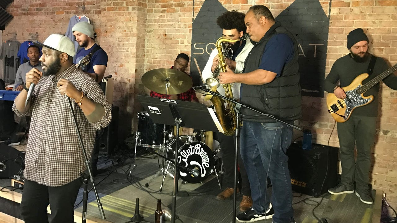 """Clint Breeze & the Groove perform """"Lavender"""" Jan. 15, 2018, on the debut episode of """"Dogfish Head Brewery presents IndyStar Sessions at Square Cat Vinyl."""" The show's second episode will star Cyrus Youngman & the Kingfishers at 6 p.m. Jan. 23."""