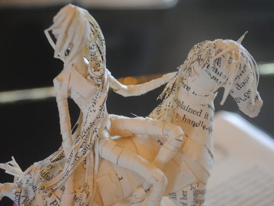 """""""My Thousand Words"""" is a book sculpture project by"""