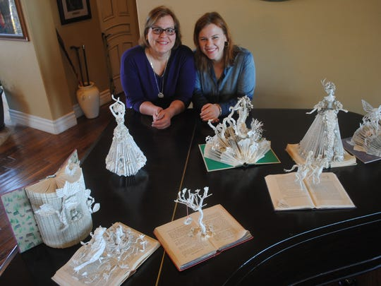 """My Thousand Words"" is a book sculpture project by mother, Debbie Lambin, and daughter, Rachael Lambin, of Reno."