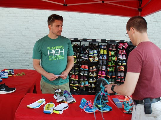 On Your Feet Friday features a different shoe sponsor each month so you can test out new kicks during the walk/run.