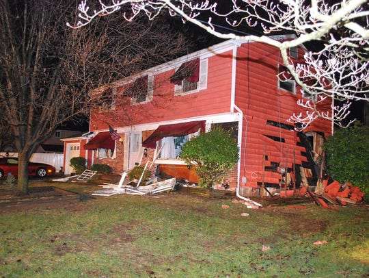 An explosion heavily damaged a Cornell Drive house