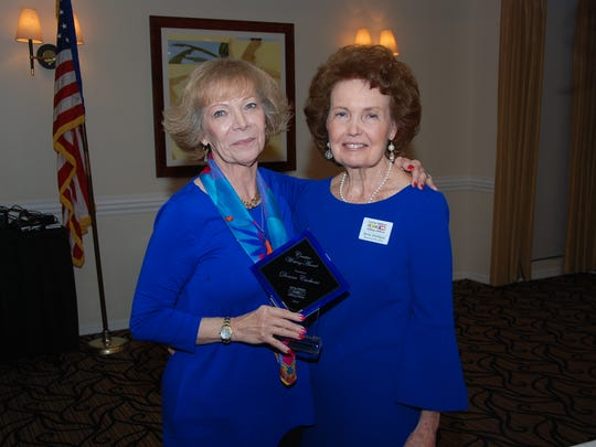 Donna Carbone, left, and Betty Mulligan. Carbone received