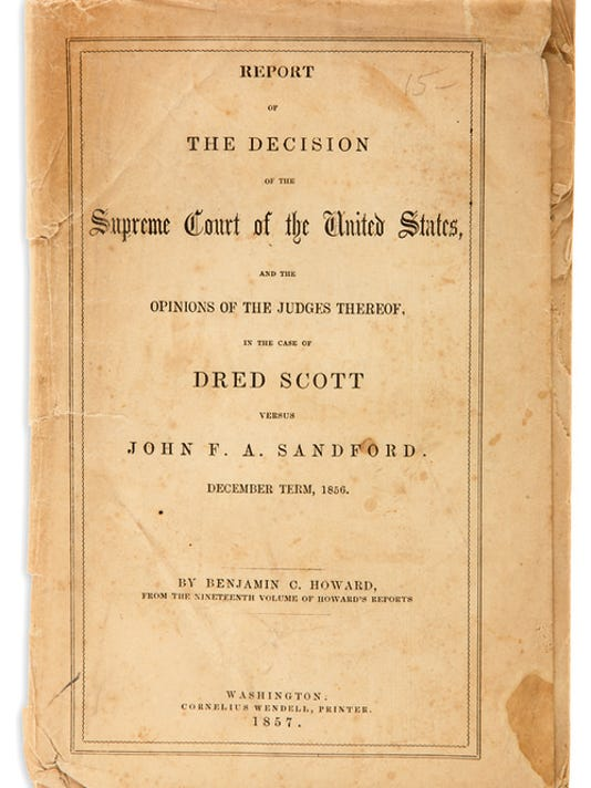 Supreme Court Decision on the Dred Scott case of 1857