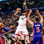 Photos: Pistons vs. Raptors in exhibition