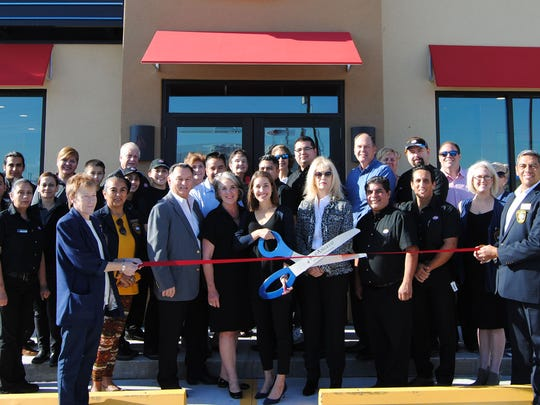 The San Angelo Chamber of Commerce and Concho Cadre were part of Dairy Queen's grand opening at 3006 Knickerbocker Road on Nov. 27. Local owners/operators Jane Richardson and Codi Kingman welcomed guests to their second San Angelo location. Kingman said the restaurant will employ about 50-60 employees serving a variety of Dairy Queen favorites including ice cream cakes. San Angelo Councilman Harry Thomas, San Angelo Mayor Brenda Gunter and Dairy Queen employees took part in the ceremony.