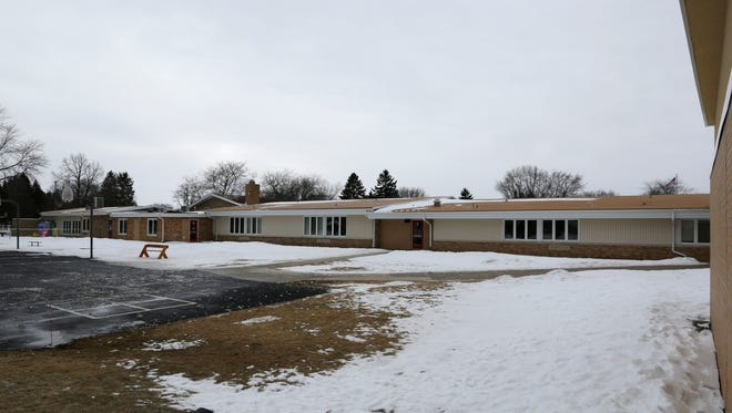 The old 1950s wing of Oostburg Elementary School as seen Friday, Jan. 22, in Oostburg. A referendum proposal hopes to replace the wing with another expansion on the newer part of Oostburg Elementary School.