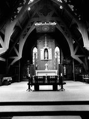 Inside the chapel at St. Bernard's Seminary.