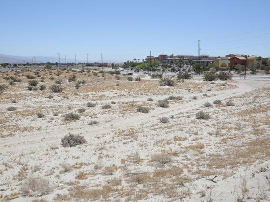 A retail center is being planned for this 18 acre parcel of land on the northeast corner of Monterey Avenue and Dinah Shore Drive in Palm Desert, May 22, 2017