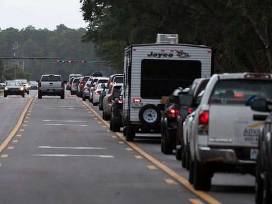 Gulf Beach Hwy Traffic