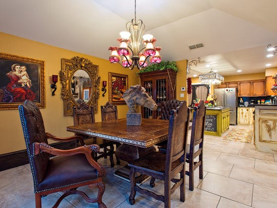 The Spanish inspired dining area is situated in it's
