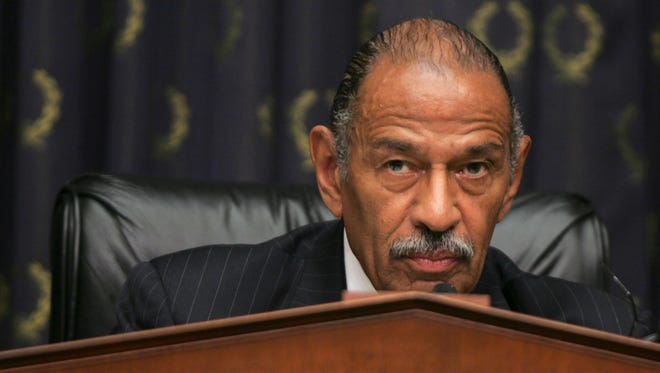 Rep. John Conyers, D-Mich. listens to testimony on Capitol Hill in Washington, Wednesday, May 23, 2007.