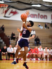 Working in the paint against a Canton player Tuesday