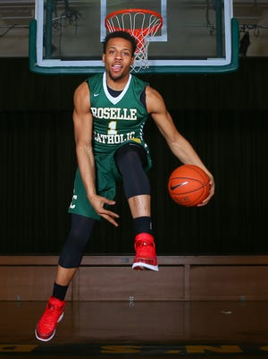 Mar 26, 2015; Roselle, NJ, USA; Isaiah Briscoe of Roselle Catholic is a candidate for ALL USA TODAY basketball player of the year. Mandatory Credit: Ed Mulholland-USA TODAY Sports, Gannett ORG XMIT: US 132838 Isaiah Briscoe 3/22/2 [Via MerlinFTP Drop]