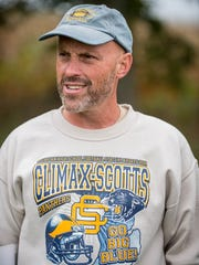 Climax-Scotts's head football coach Kevin Langs.