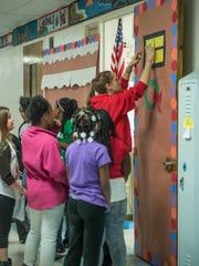 Fourth grade Albion Public Schools teacher Amber Halsted