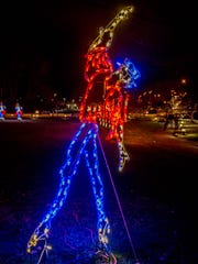 The lords are a'leaping for International Festival of Lights in downtown Battle Creek.