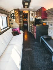 An interior designer's touch has remade a motorcoach into a bus for special occasions.