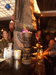 Intrepid diners check out the new Undertow Tiki Bar