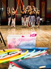 "Kids take the stage for a rehearsal at Artis-Naples in Naples, Fla., on Sunday, Nov. 20, 2016. Naples Ballet rehearsed Sunday at Artis-Naples for the ""Nutcracker"" seasonal play."