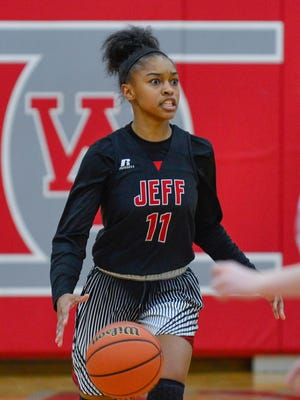 Brandi Norton is one of five players averaging in double figures in scoring for Lafayette Jeff.
