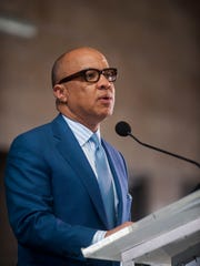 Darren Walker, President of the Ford Foundation, speaks at the NEI's unveiling of their Economic Impact Report at Eastern Market on Wednesday, Sept. 14, 2016.