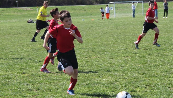 Christian Canos, recently selected to travel to Spain for an upcoming FC Barcelona tournament.
