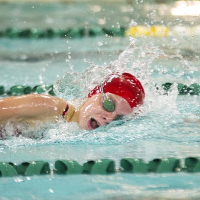 Wauwatosa East swimmer Anna  Busalacchi swims the 200-yard freestyle event during the 28th Annual Early Bird Swim Invite at Wauwatosa West High School on Aug. 20.