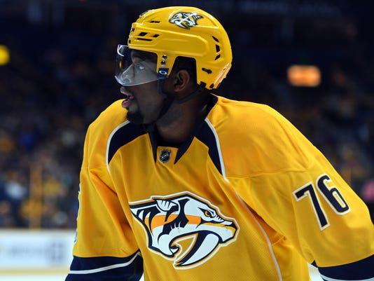 NHL: Edmonton Oilers at Nashville Predators