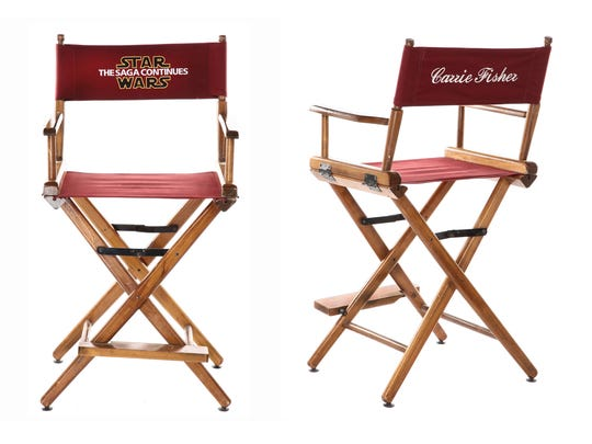 Carrie Fisher's on-set chair with personalized chair