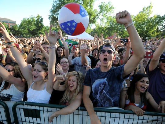 Awolnation fans cheer as the American electronic rock