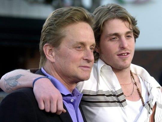 Michael Douglas, left, and his son, Cameron Douglas,