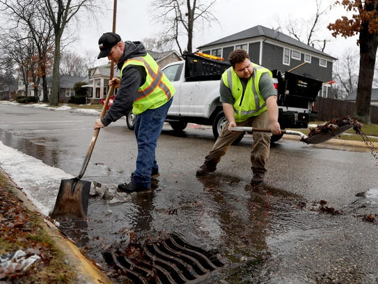 To help avoid possible flooding, City of Ferndale Department
