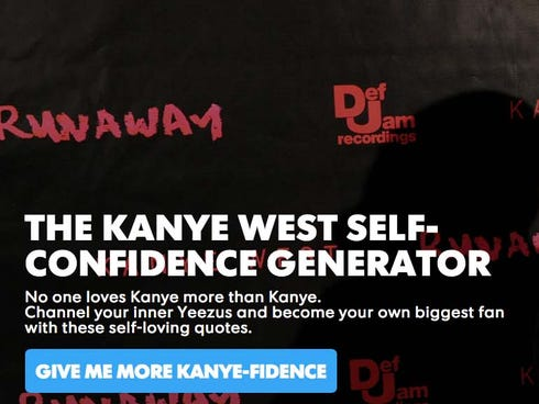 kanye west self confidence generator pacific daily news