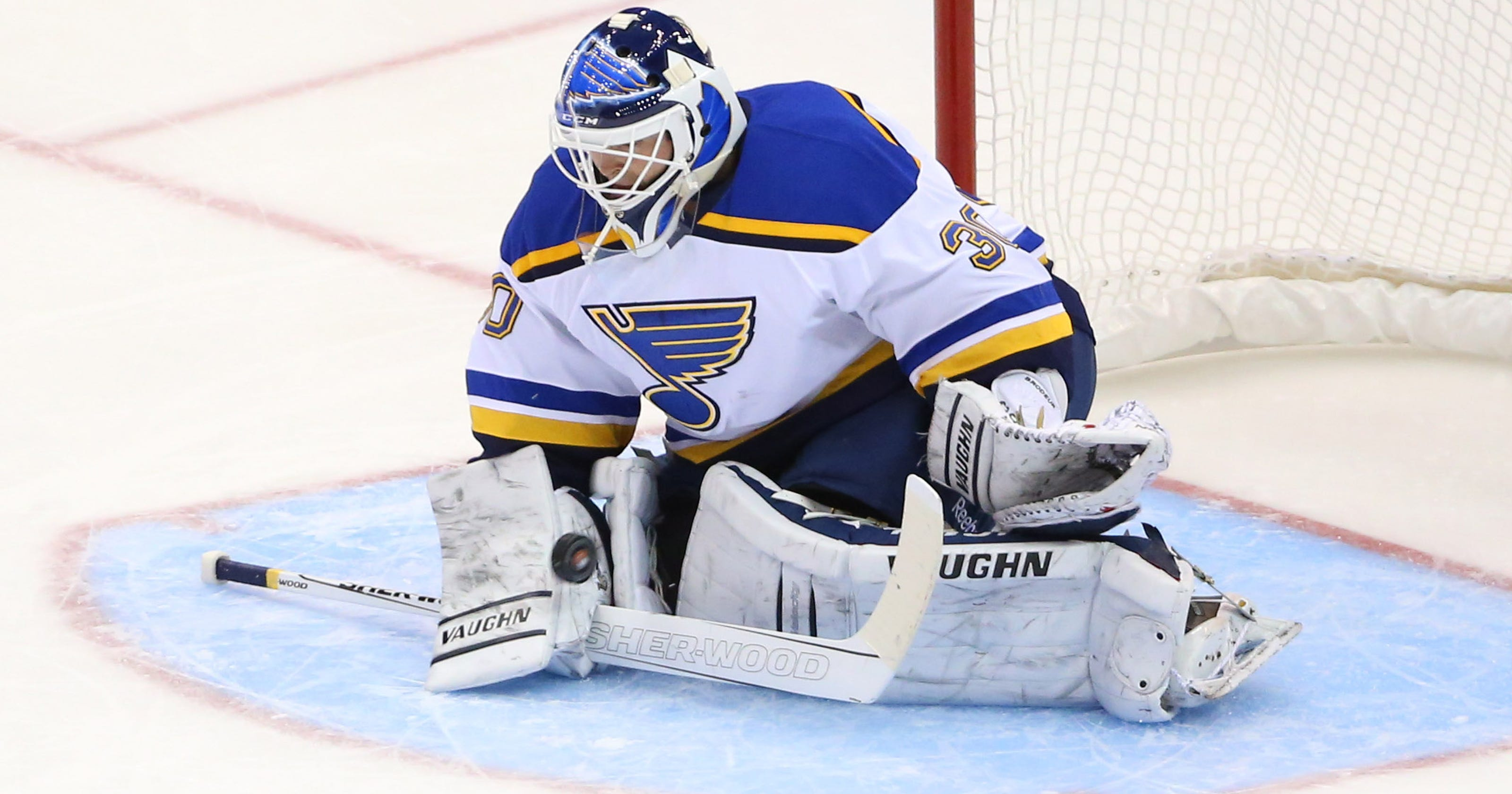 Martin Brodeur Picks Up Win In Relief For Blues