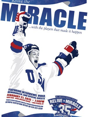 Members of the Miracle on Ice hockey team will reunite in Lake Placid on Feb. 21.