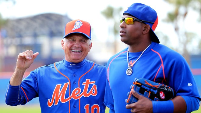 Mets manager Terry Collins knows he'll have to rely on outfielder Yoenis Cespedes to power the offense in 2017.
