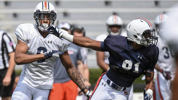 Carlton Davis (6), here defending Darius Slayton, didn't