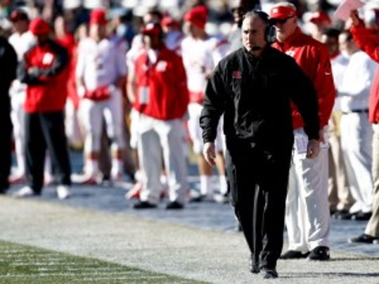 Rutgers head coach Kyle Flood understands that the schedule is challenging but says he and his players are looking forward to the challenge. (Jeff Zelevansky/Getty Images)