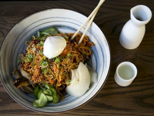 Chilled kimchi noodles at Obon Sushi Bar Ramen in Scottsdale