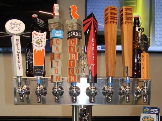 There's plenty of local beer to be found at Nic's Hometown Tavern in the West Keansburg section of Hazlet.