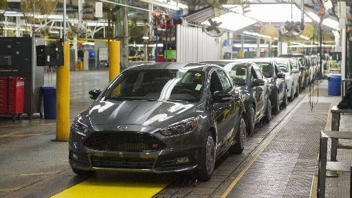 Ford told the UAW it would no longer produce the Focus and C-Max hybrid models at the Michigan Assembly plant after 2018.