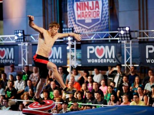 "Bobby Zavala competes on ""American Ninja Warrior"" in the Orlando, Florida, qualifier."