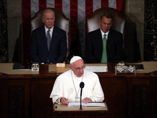 ***BESTPIX*** Pope Francis Addresses Joint Meeting Of U.S. Congress