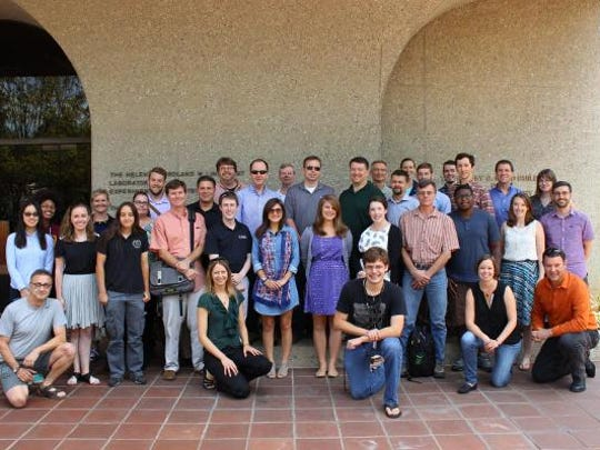 The Mastcam-Z team at the Second Mars 2020 Landing Site Workshop in August. The team, which is developing the rover's camera system, includes assistant professor Briony Horgan and several Purdue students.