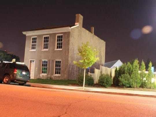 A house dating to the 1830s sits at the foot of the ramp of the Big Four Bridge in Jeffersonville. The house is a stop on the haunted Jeffersonville tour.