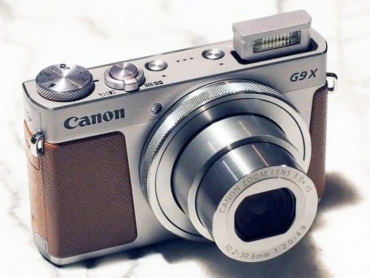 The Canon PowerShot G9 X camera.
