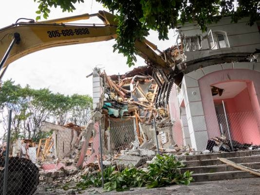 Miami mansion once owned by Pablo Escobar demolished