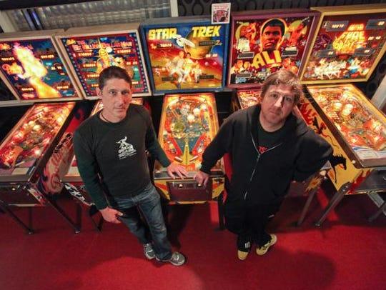 Check out the myriad of pinball machines at Zanzabar