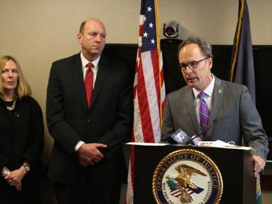 U.S. Attorney William Hochul (New York) holds a press