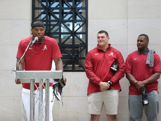 Heisman Trophy-winning running back Derrick Henry,